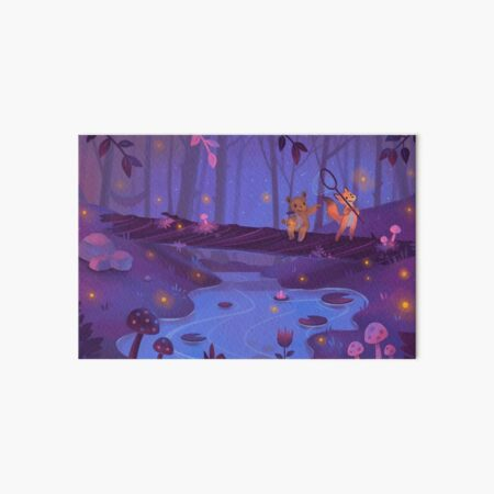 Catching Fireflies Art Board Print