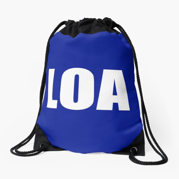 LOA! I LOVE THE LAW OF ATTRACTION FUNNY CUTE DESIGN GIFT IDEA UNIQUE COOL AWESOME Drawstring Bag
