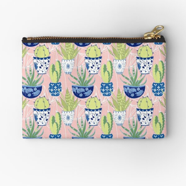 Chinoiserie Cactus Zipper Pouch