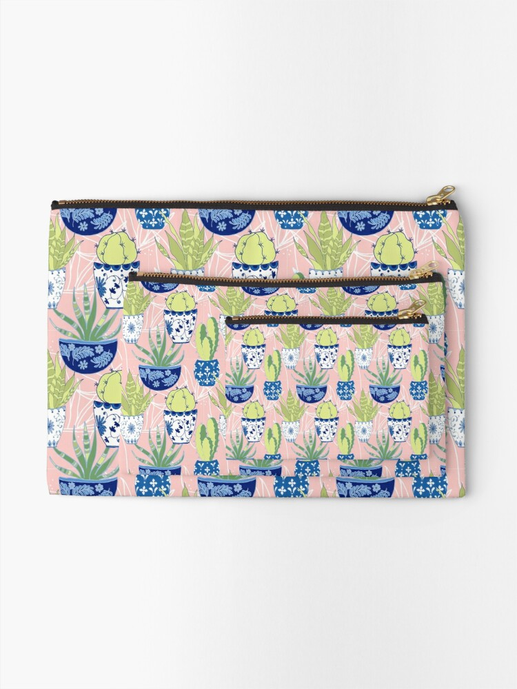 Alternate view of Chinoiserie Cactus Zipper Pouch