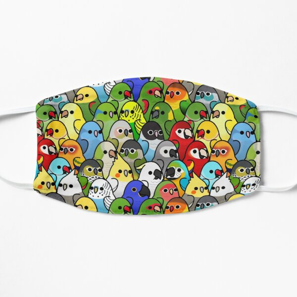 Too Many Birds! Bird Squad Classic Flat Mask