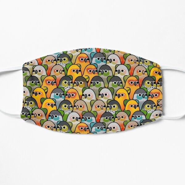 Too Many Birds! - Conure Squad Flat Mask