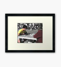 Bench Warmers No. 5, Part of a Series Framed Print