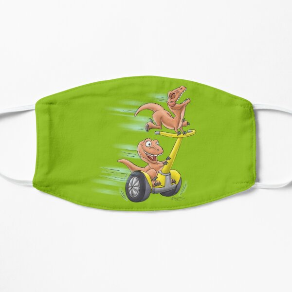 Raptors on a Segway! from Mom Needs a Dinosaur! Book - Green Background Mask