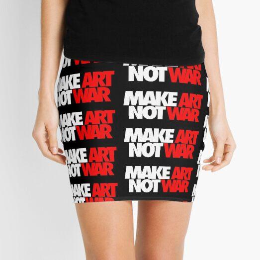 Make Art Not War Mini Skirt