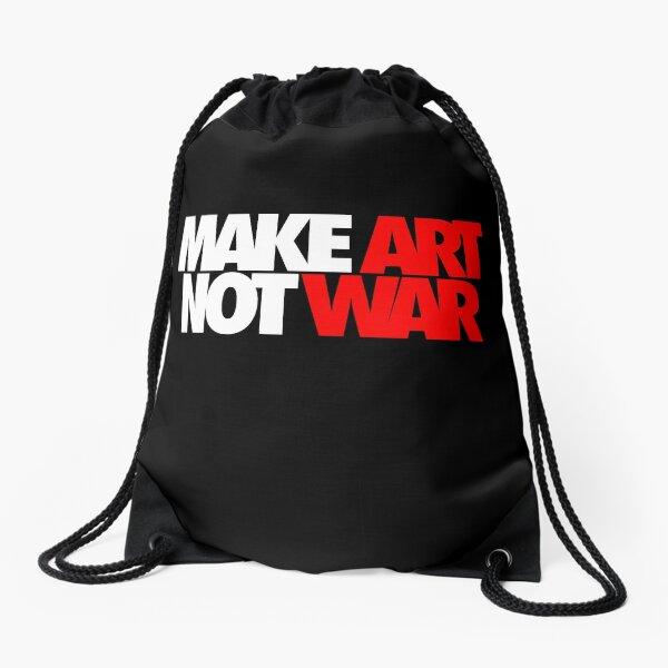 Make Art Not War Drawstring Bag