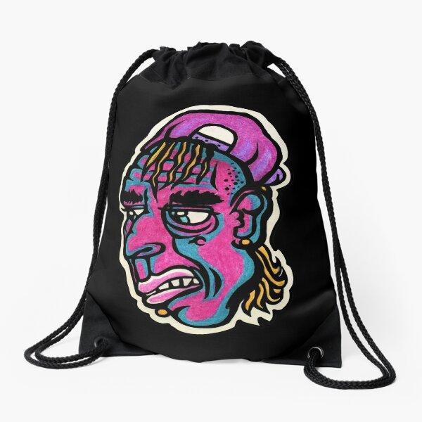 Burnout - Black Background Version Drawstring Bag