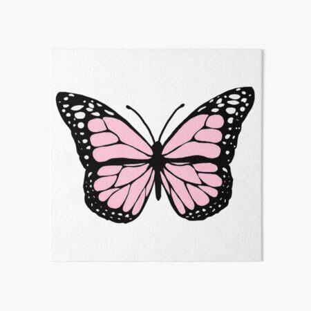 baby pink butterfly Art Board Print