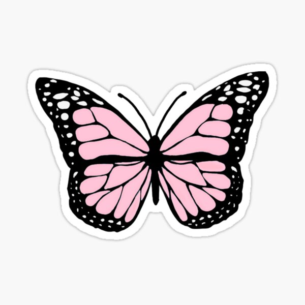 baby pink butterfly Sticker
