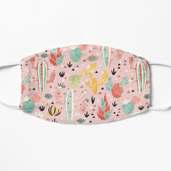 Pink Desert pattern Mask