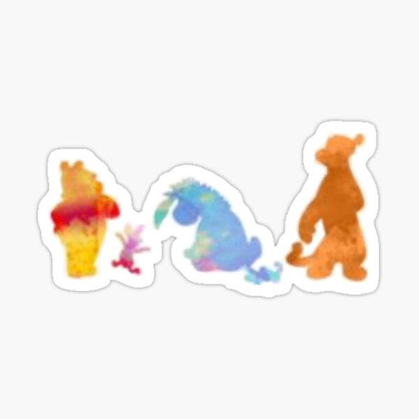 friends silhouette Sticker