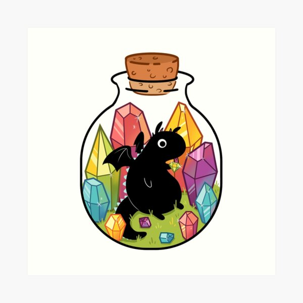 Dragon in a Bottle Art Print
