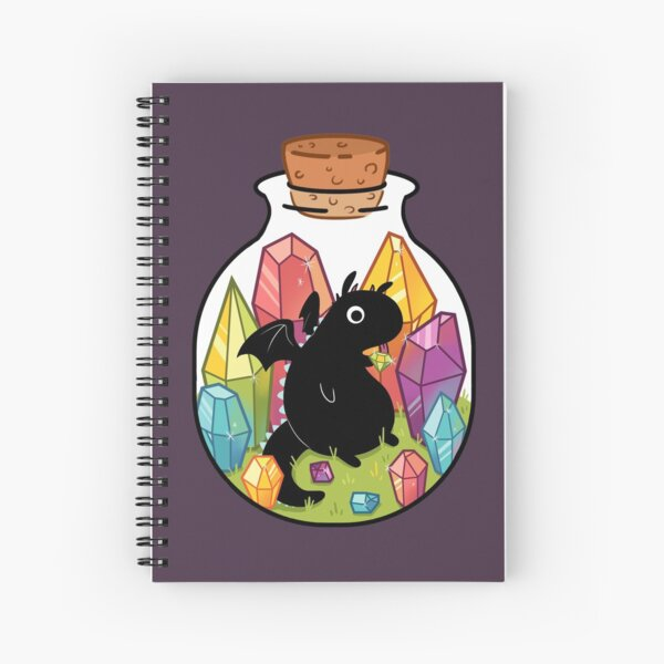 Dragon in a Bottle Spiral Notebook