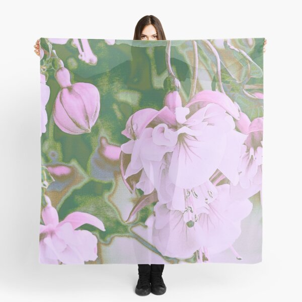 Delicate Pinks - Fuchsias in Art Scarf