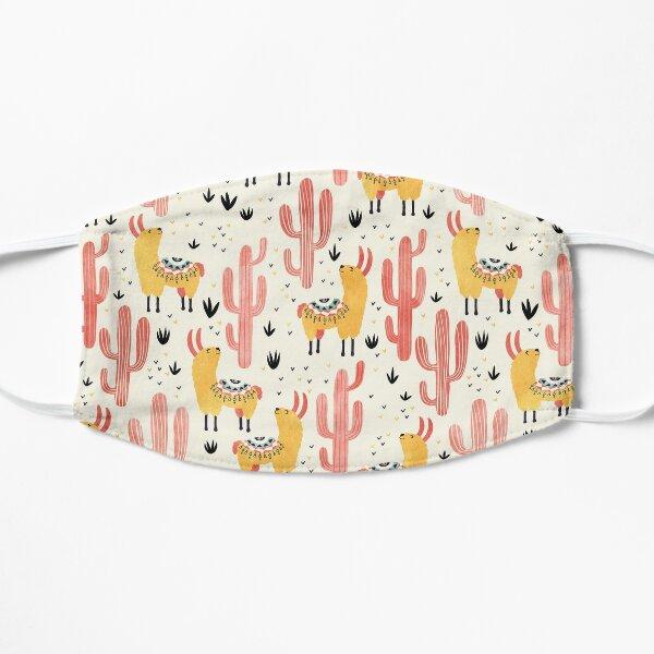 Yellow Llamas Red Cacti Mask