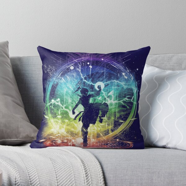 water tribe storm Throw Pillow