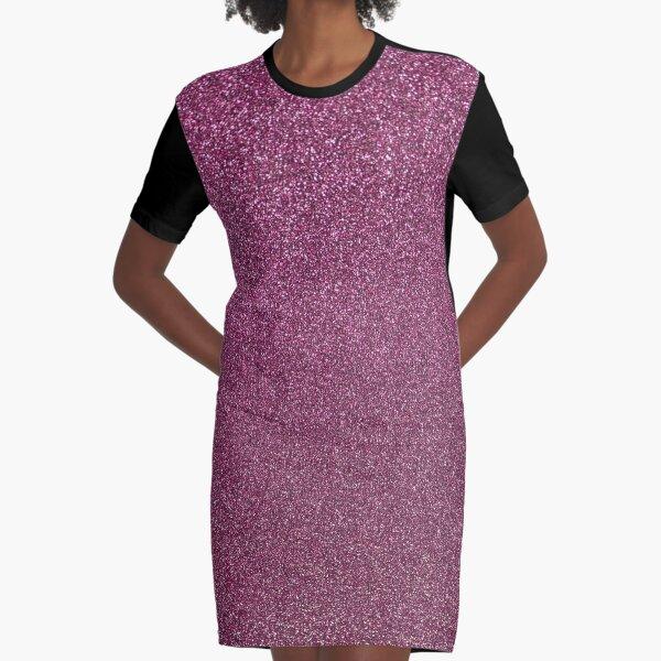 Dusty Rose Fairy Dust Graphic T-Shirt Dress