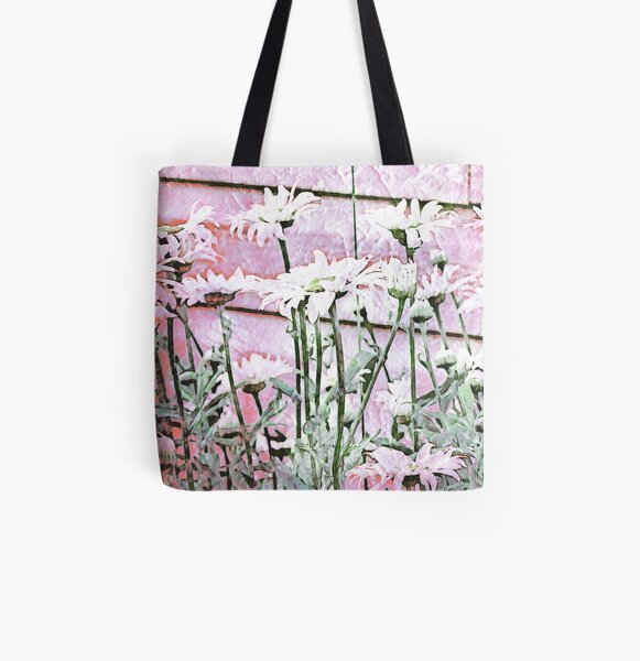 For The Love of Daisies All Over Print Tote Bag