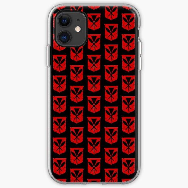 Hawai'i Kanaka Maoli (red) by Hawaii Nei All Day iPhone Soft Case