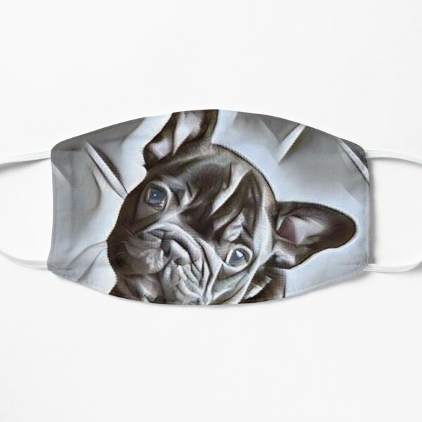 French Bulldog Puppy ADOPT DON'T SHOP - beautiful painting of this gentle breed of dog Flat Mask