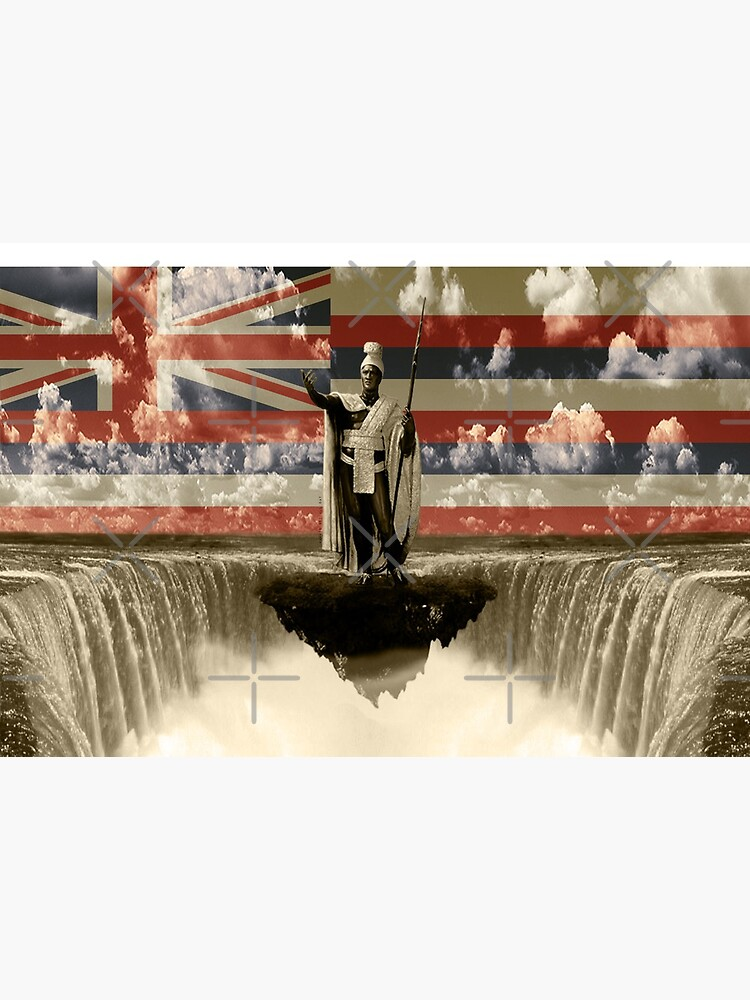 King Kamehameha The Lonely One (Hawai'i Flag) by Hawaii Nei All Day by HawaiiNeiAllDay