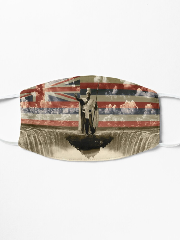 Alternate view of King Kamehameha The Lonely One (Hawai'i Flag) by Hawaii Nei All Day Mask
