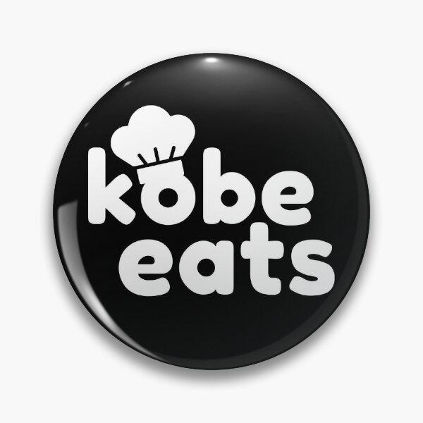 Kobe Eats - White  Pin