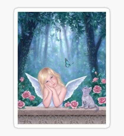 Little Miracles Angel & Kitten Sticker