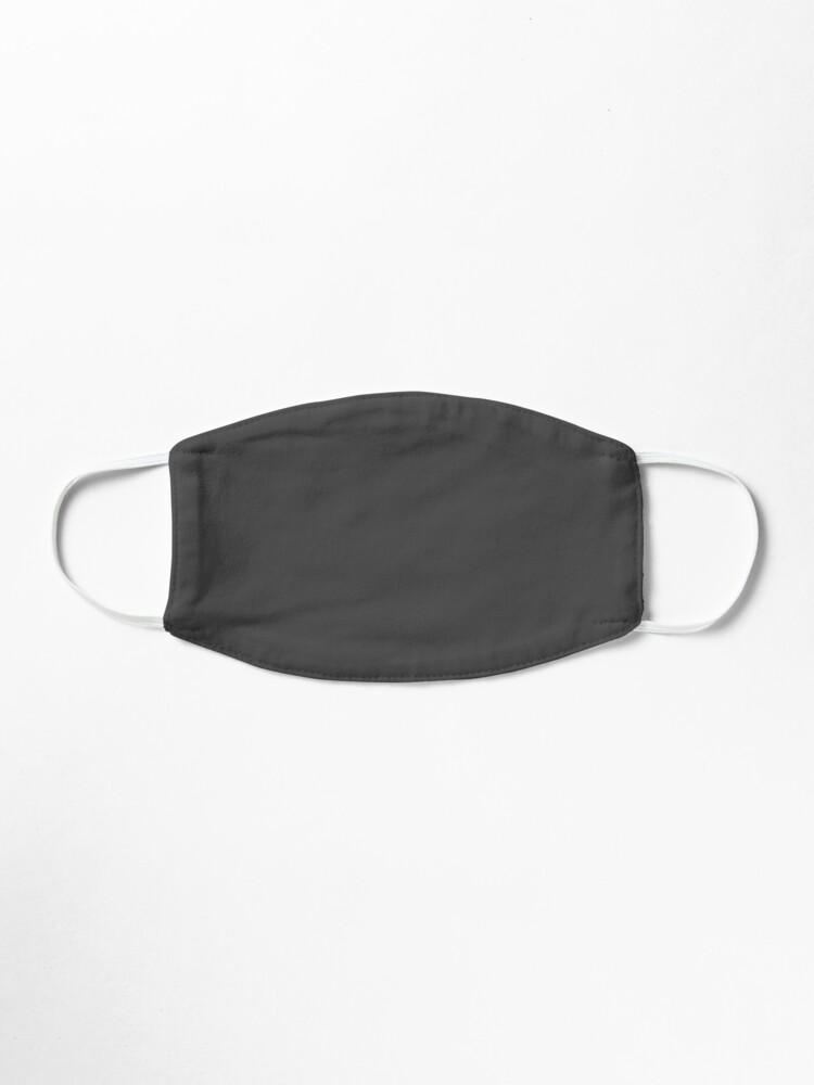 Alternative Ansicht von Einfache einfache anthrazitfarbene Vollblockfarbe Maske