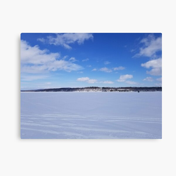 Sky & snow Canvas Print