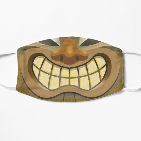 Grinning Hawaii Tiki Face Mask