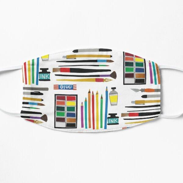 Art Supplies Collage Flat Mask