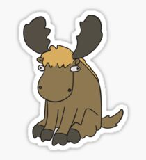 Ginger Moose Sticker