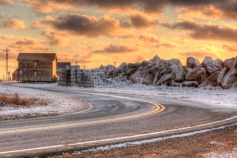 A Chilly Day at the Yarmouth Bar by Debbie  Roberts