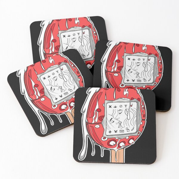 Two girls kissing  Coasters (Set of 4)