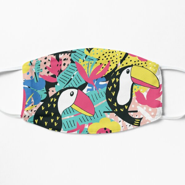 Toucan floral pattern Mask