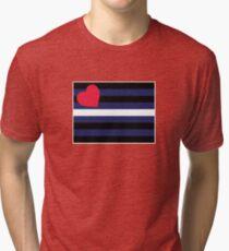 Leather Pride Flag Tri-blend T-Shirt