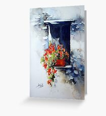 Tuscany Window Greeting Card