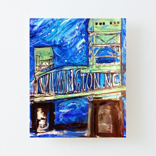 Wilmington NC bridge Canvas Mounted Print