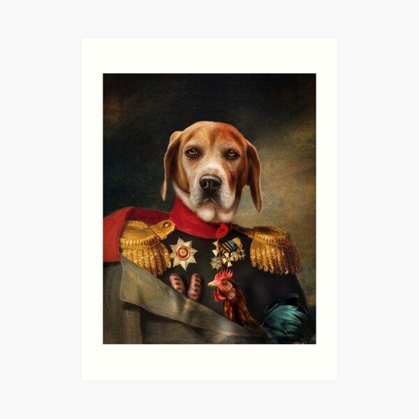 Beagle Dog Portrait - Steve Art Print