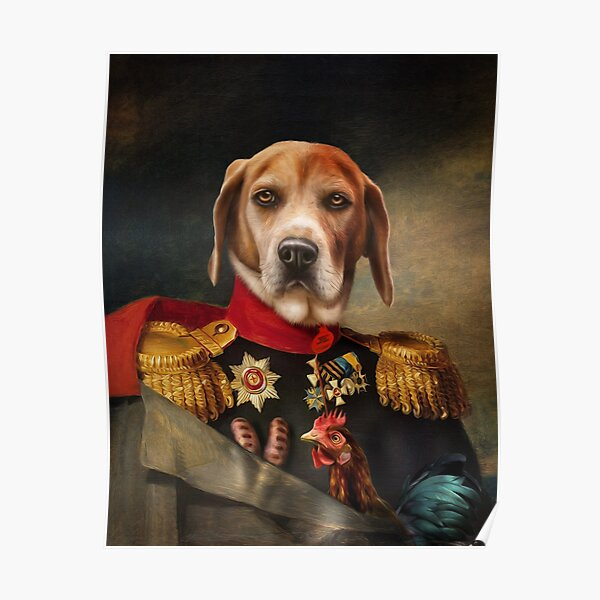 Beagle Dog Portrait - Steve Poster