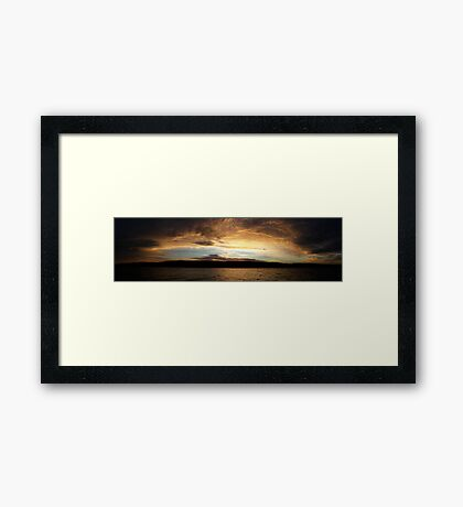 The Last Sunset Framed Print
