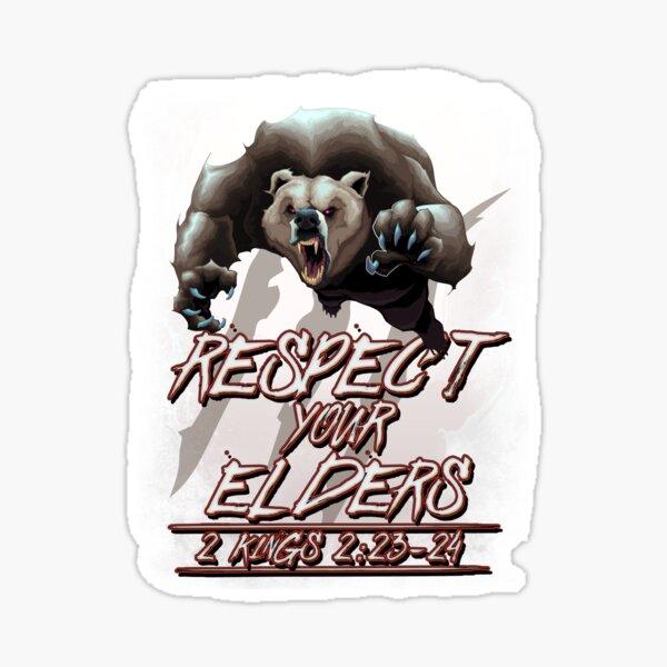 Respect Your Elders (Comic) Sticker