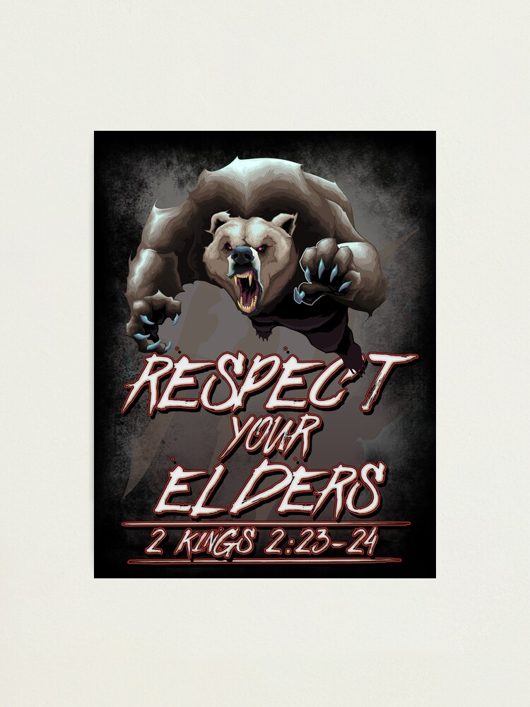 Alternate view of Respect Your Elders (Comic) Photographic Print