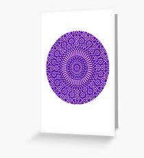 indigo third eye chakra Greeting Card
