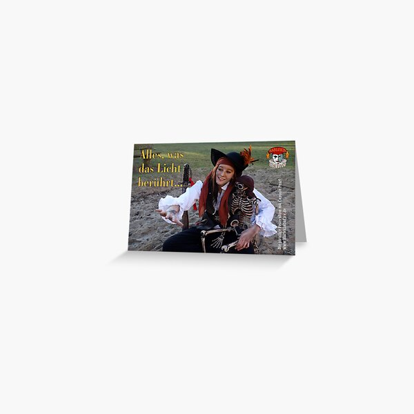 Captain Pearl erklärt ihr Leben als Pirat Grußkarte