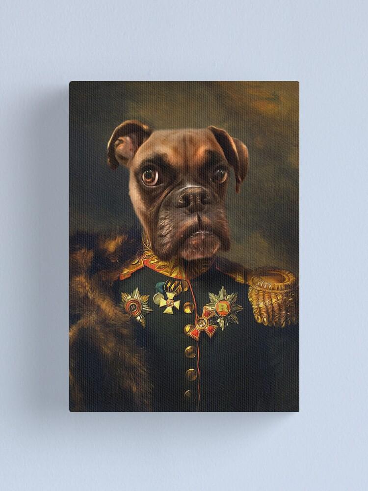 Alternate view of Boxer Dog Portrait - Rocky Canvas Print