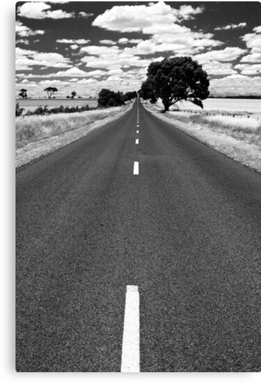 The road goes ever on - Victoria by Norman Repacholi