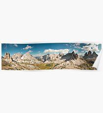Dolomites panorama Poster