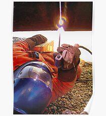 Pipeline welding. Poster